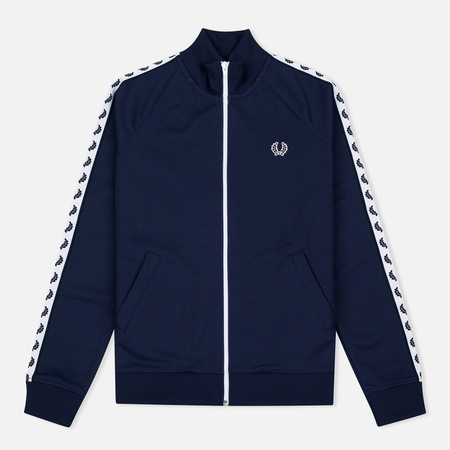 Fred Perry Laurel Wreath Tape Women's Track Jacket Carbon Blue