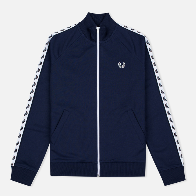 Женская олимпийка Fred Perry Laurel Wreath Tape Track Carbon Blue