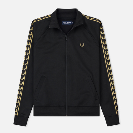 Женская олимпийка Fred Perry Sports Authentic Taped Track Black
