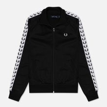 Женская олимпийка Fred Perry Sports Authentic Taped Track Black/White фото- 0