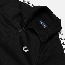 Женская олимпийка Fred Perry Sports Authentic Taped Track Black/White фото- 1