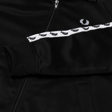 Женская олимпийка Fred Perry Sports Authentic Taped Track Black/White фото- 2