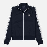 Женская олимпийка Fred Perry Sports Authentic Taped Track Carbon Blue фото- 0
