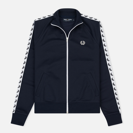 Женская олимпийка Fred Perry Sports Authentic Taped Track Carbon Blue