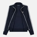 Женская олимпийка Fred Perry Sports Authentic Taped Track Carbon Blue фото- 3