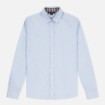 Женская рубашка Aquascutum Bowten Club Check Trim Baby Blue фото- 0