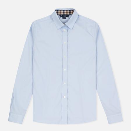 Женская рубашка Aquascutum Bowten Club Check Trim Baby Blue