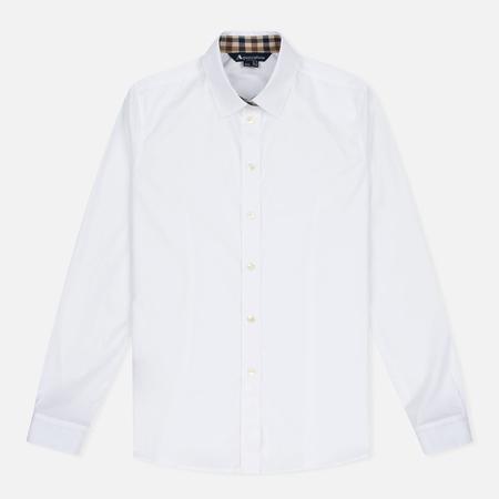 Женская рубашка Aquascutum Bowten Club Check Trim White