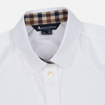 Aquascutum Bowten Club Check Trim Women's Shirt White photo- 1