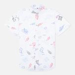 Женская рубашка Carhartt WIP W' S/S Roby Scribble Print/White фото- 0