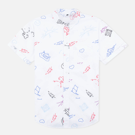 Carhartt WIP W' S/S Roby Scribble Women's Shirt Print/White