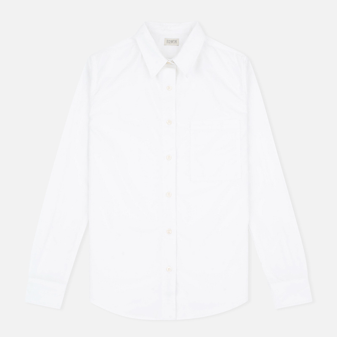 Женская рубашка Edwin W' Dasha Military Poplin 3.5 Oz White