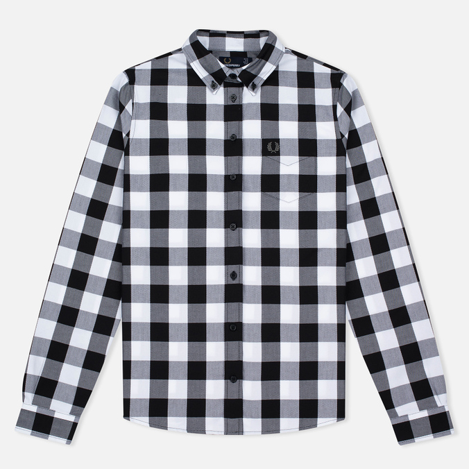 Fred Perry Gingham Women's Shirt Black