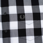 Fred Perry Gingham Women's Shirt Black photo- 2