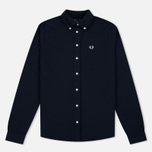 Женская рубашка Fred Perry Oxford Navy фото- 0