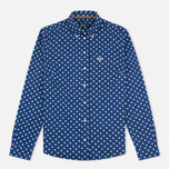 Женская рубашка Fred Perry Polka Dot LS Medieval Blue фото- 0