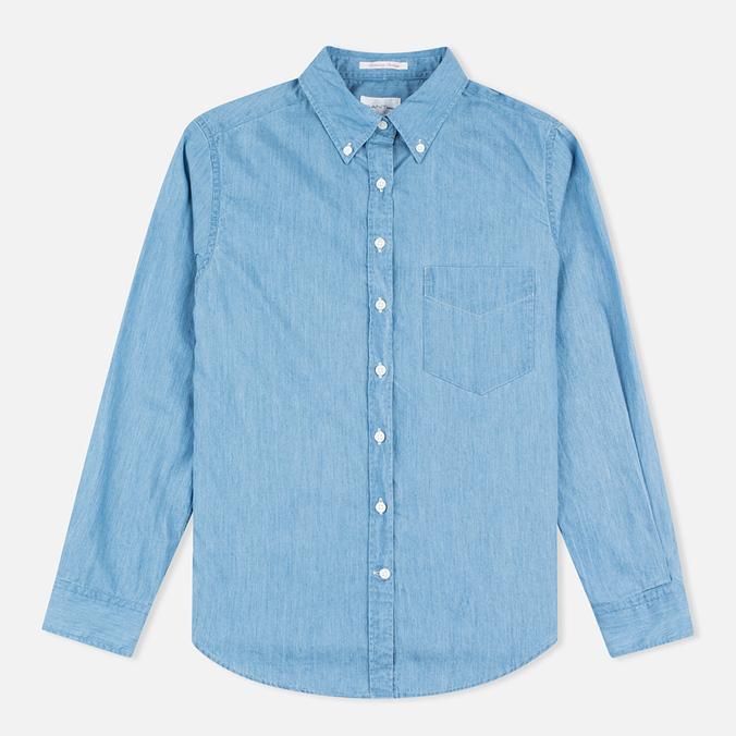 Женская рубашка Gant Rugger Luxury Light Indigo