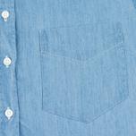 Женская рубашка Gant Rugger Luxury Light Indigo фото- 2