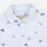 Женская рубашка Maison Kitsune Oxford Printed Baby Collar Light Blue Stripe фото- 1