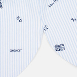 Женская рубашка Maison Kitsune Oxford Printed Baby Collar Light Blue Stripe фото- 3