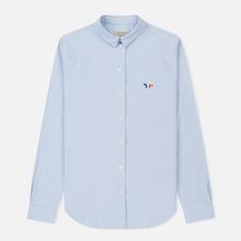 Женская рубашка Maison Kitsune Oxford Tricolor Fox Patch Classic Light Blue фото- 0