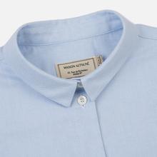 Женская рубашка Maison Kitsune Oxford Tricolor Fox Patch Classic Light Blue фото- 1
