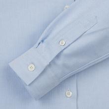 Женская рубашка Maison Kitsune Oxford Tricolor Fox Patch Classic Light Blue фото- 3