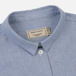 Женская рубашка Maison Kitsune Oxford Tricolor Fox Patch Classic Navy фото- 1