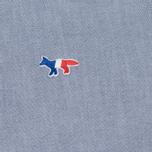 Женская рубашка Maison Kitsune Oxford Tricolor Fox Patch Classic Navy фото- 2