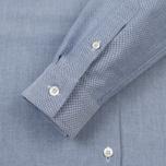 Женская рубашка Maison Kitsune Oxford Tricolor Fox Patch Classic Navy фото- 3