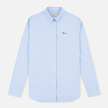 Женская рубашка Maison Kitsune Oxford Tricolor Patch Light Blue фото- 0