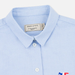 Женская рубашка Maison Kitsune Oxford Tricolor Patch Light Blue фото- 1