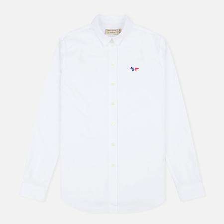 Maison Kitsune Oxford Tricolour Patch Women's Shirt White