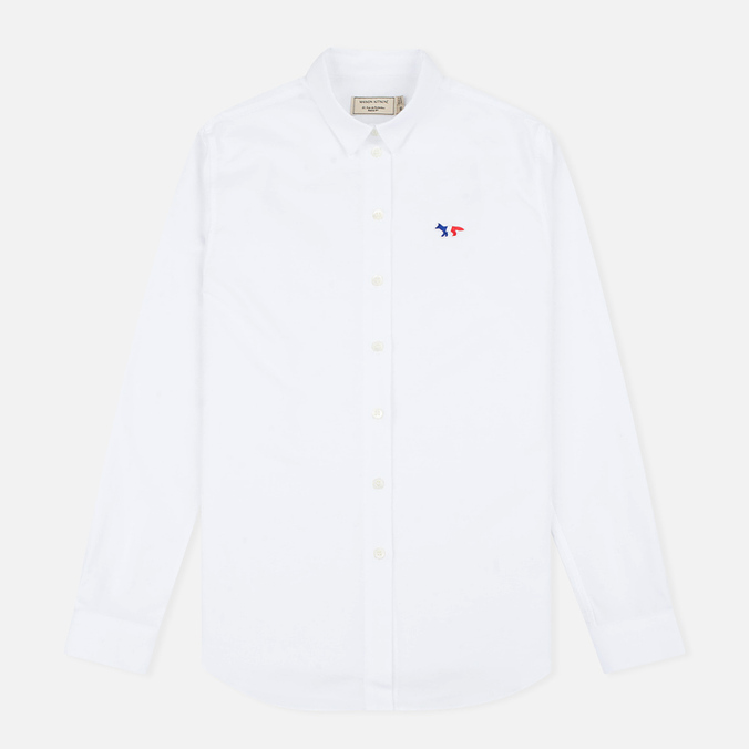 Женская рубашка Maison Kitsune Oxford Tricolor Patch White