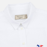 Женская рубашка Maison Kitsune Oxford Tricolor Patch White фото- 1