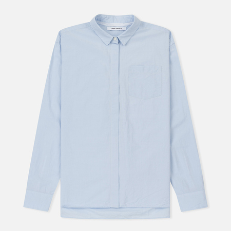 Женская рубашка Norse Projects Agnak Pocket Cotton Glacier