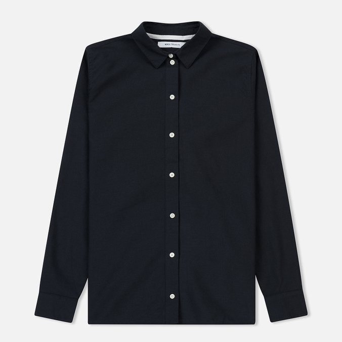 Женская рубашка Norse Projects Elva Oxford Dark Navy