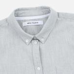 Женская рубашка Norse Projects Elva Oxford Light Grey Melange фото- 1