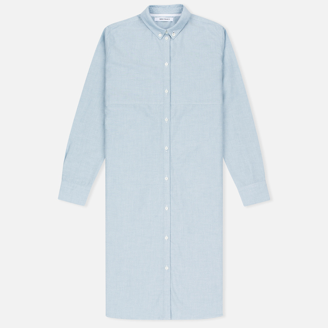 Женская рубашка Norse Projects Martina Oxford Pale Blue Melange