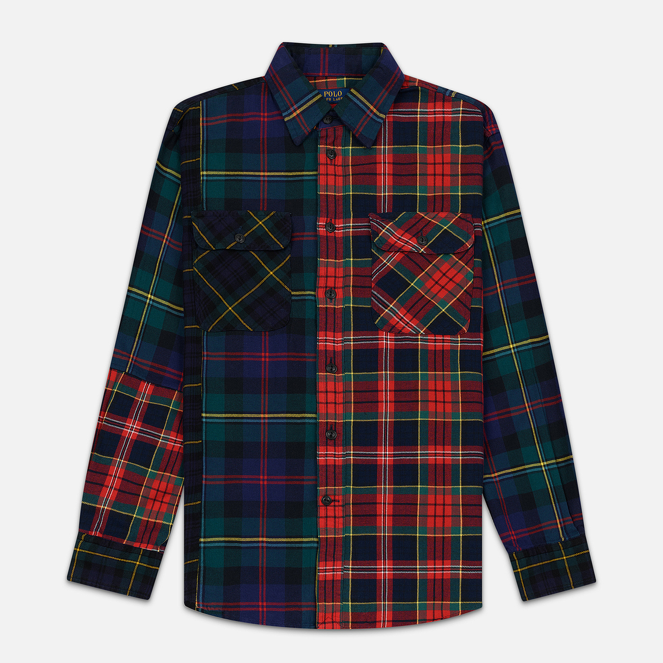 Женская рубашка Polo Ralph Lauren Contrast Plaid Cotton Multicolor