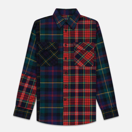 Женская рубашка Polo Ralph Lauren Contrast Plaid Cotton Multicolor