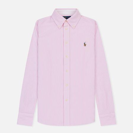 Женская рубашка Polo Ralph Lauren Heidi Oxford Stripe Carmel Pink/White