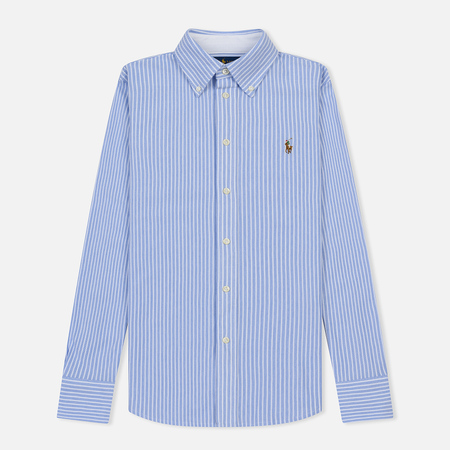 Женская рубашка Polo Ralph Lauren Heidi Oxford Stripe Harbor Island Blue/White