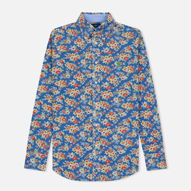Женская рубашка Polo Ralph Lauren Heidi Printed Oxford Blue Floral