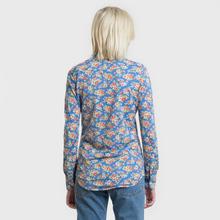 Женская рубашка Polo Ralph Lauren Heidi Printed Oxford Blue Floral фото- 3