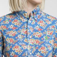 Женская рубашка Polo Ralph Lauren Heidi Printed Oxford Blue Floral фото- 2