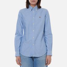 Женская рубашка Polo Ralph Lauren Kendal Washed Oxford Slim Fit Blue фото- 2