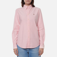 Женская рубашка Polo Ralph Lauren Kendal Washed Oxford Slim Fit Pink фото- 2