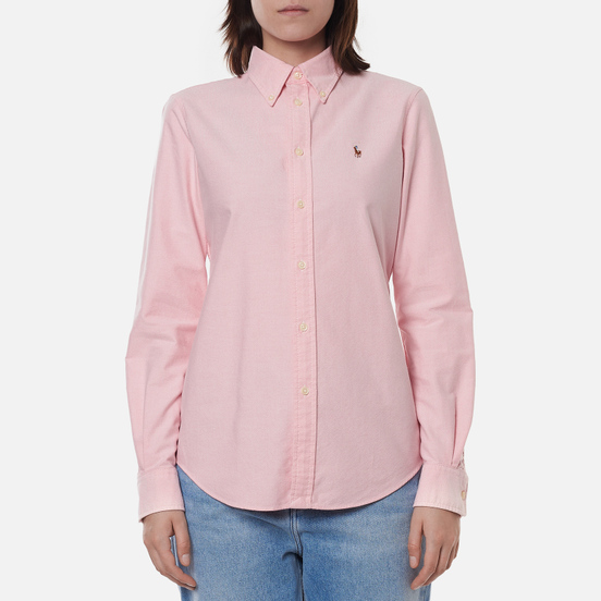 Женская рубашка Polo Ralph Lauren Kendal Washed Oxford Slim Fit Pink