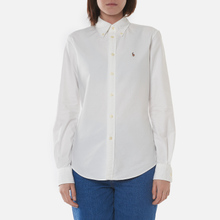 Женская рубашка Polo Ralph Lauren Kendal Washed Oxford Slim Fit White фото- 2